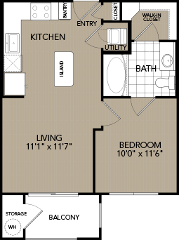 526 sq. ft. A floor plan