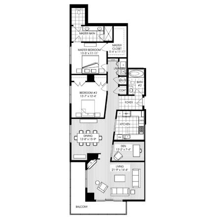 1,774 sq. ft. B9 floor plan