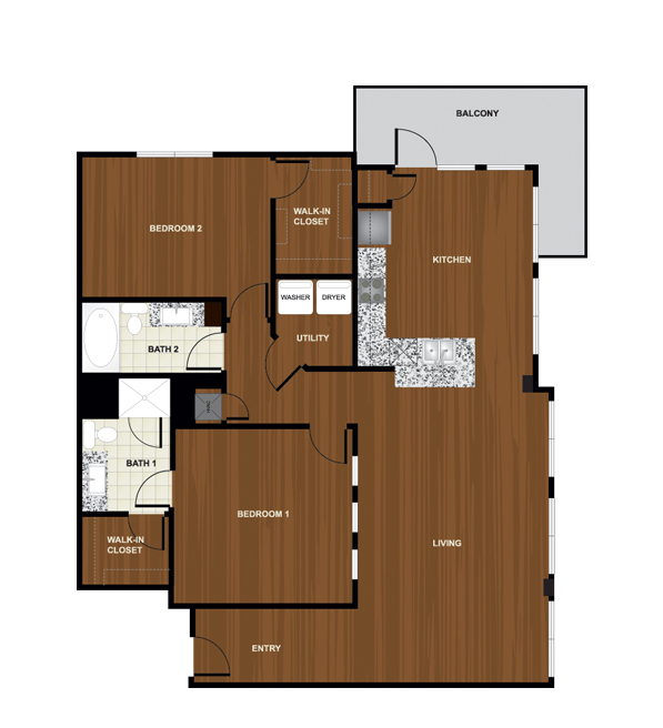 1,408 sq. ft. B7 floor plan