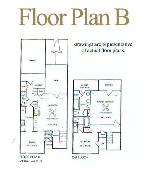 1,438 sq. ft. B floor plan