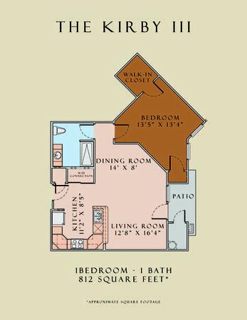 812 sq. ft. Kirby III/60 floor plan