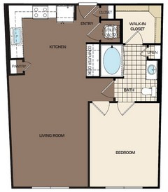 736 sq. ft. A1-sb floor plan