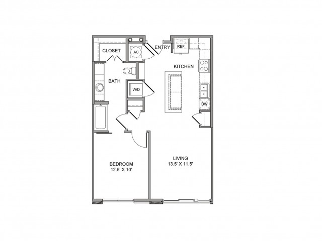 971 sq. ft. Young floor plan