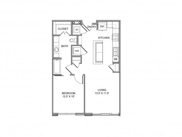 971 sq. ft. Young floor plan