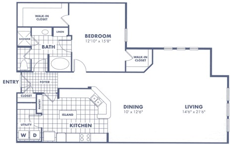 1,338 sq. ft. A3 floor plan