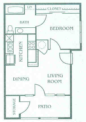 513 sq. ft. 60% floor plan
