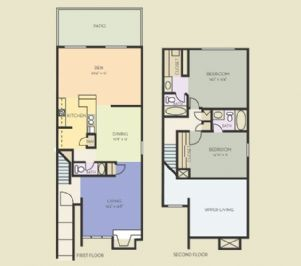 1,636 sq. ft. B11 floor plan
