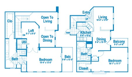 1,506 sq. ft. L2 floor plan