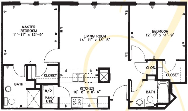 763 sq. ft. floor plan