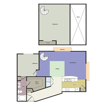 1,304 sq. ft. Fairmont floor plan