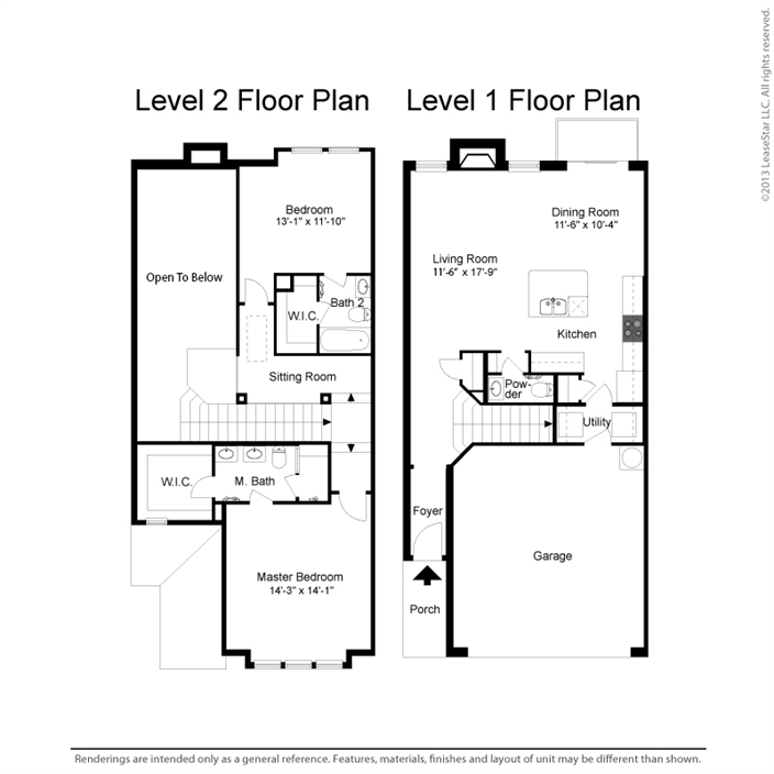 1,486 sq. ft. B2-C floor plan