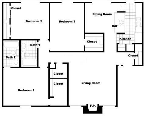 1,350 sq. ft. C2 floor plan