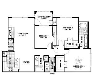 1,368 sq. ft. C1 floor plan