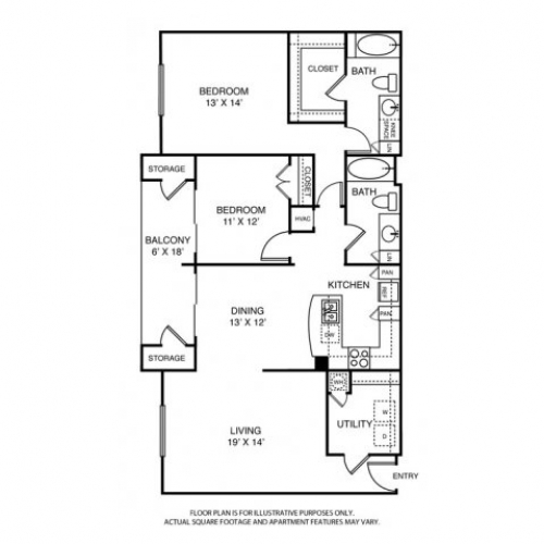 1,431 sq. ft. to 1,448 sq. ft. B3 floor plan