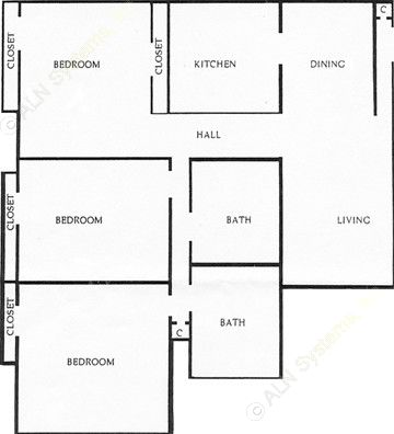1,087 sq. ft. floor plan