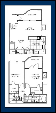 1,384 sq. ft. BELIZE floor plan