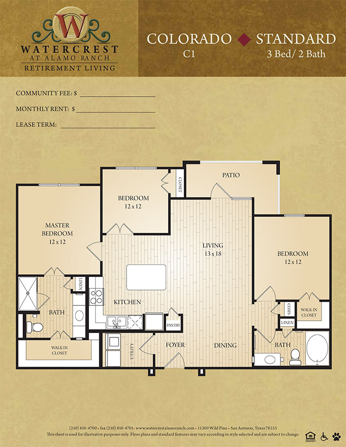 1,450 sq. ft. Colorado floor plan