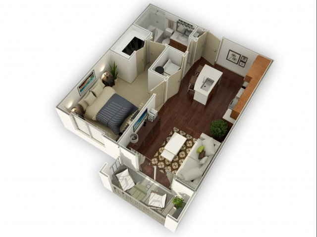 624 sq. ft. A1 alt 3 floor plan