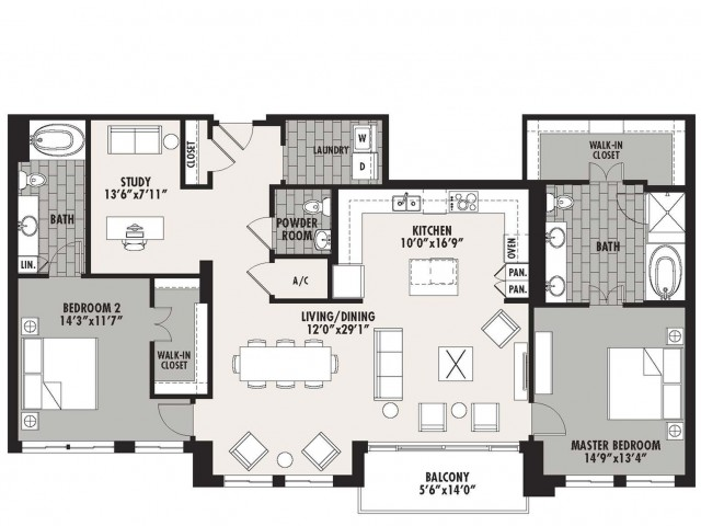 1,784 sq. ft. Preston(B.7) floor plan