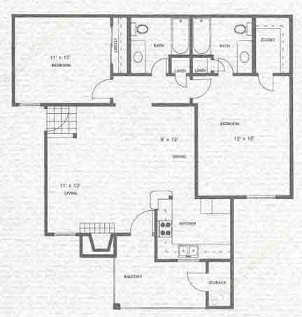1,044 sq. ft. Neches floor plan