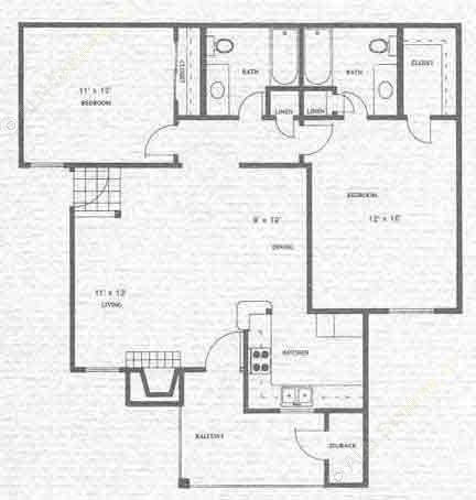 1,044 sq. ft. Neches floor plan