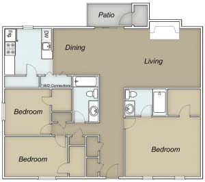 1,428 sq. ft. E/Barbados floor plan
