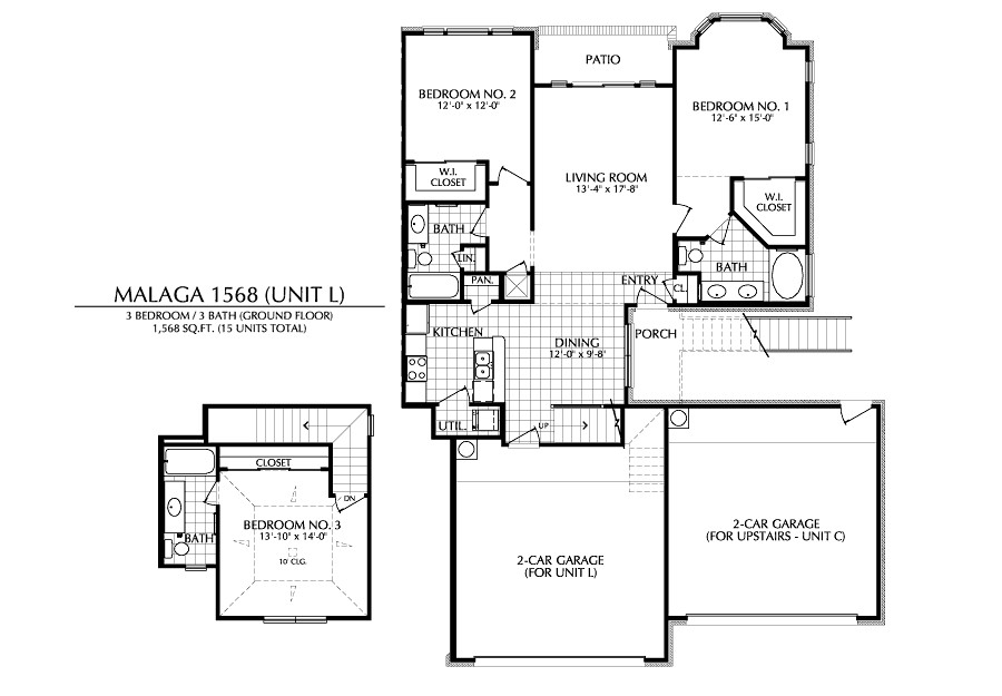 1,568 sq. ft. L floor plan