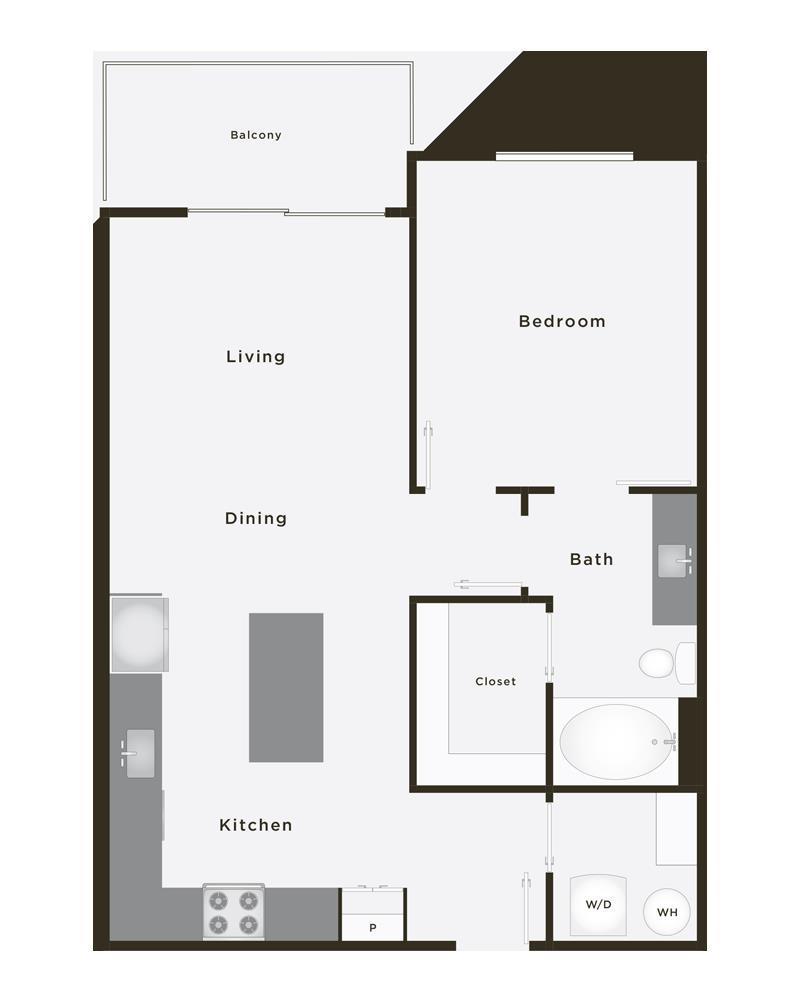782 sq. ft. Triump floor plan