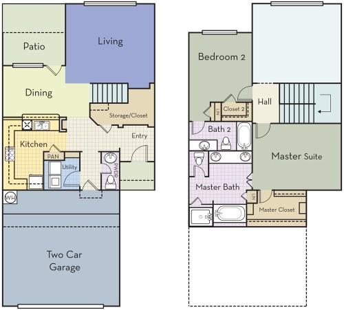 1,608 sq. ft. B2.5AT floor plan