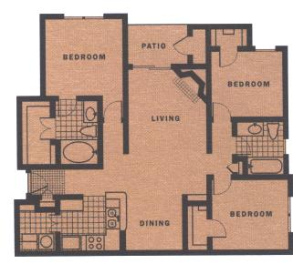 1,280 sq. ft. C1-III floor plan