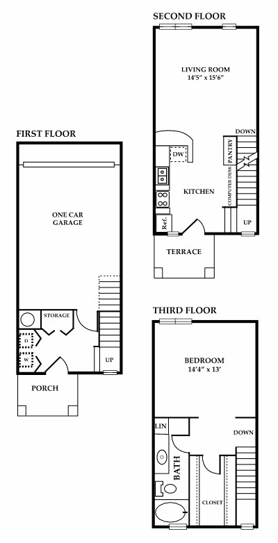 985 sq. ft. Magnolia floor plan