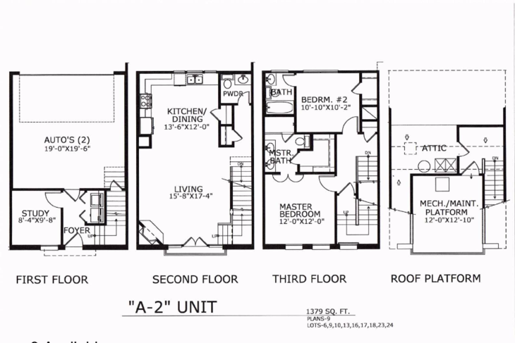 1,379 sq. ft. A2 floor plan