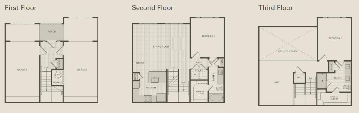 1,530 sq. ft. C2 floor plan