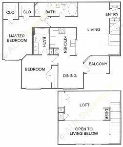 1,393 sq. ft. G floor plan