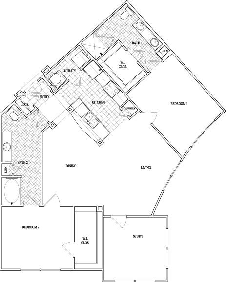 1,373 sq. ft. floor plan