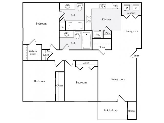 1,115 sq. ft. floor plan