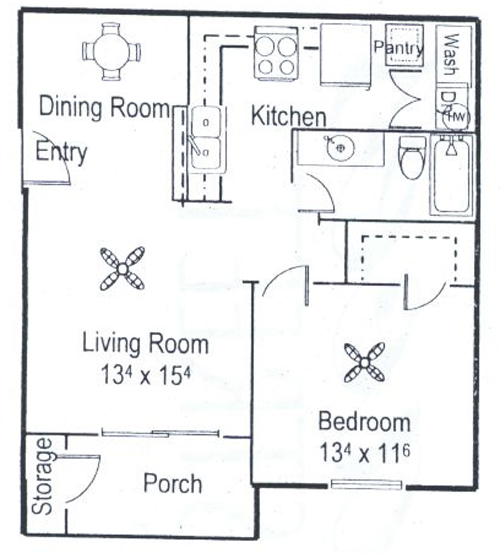 699 sq. ft. floor plan