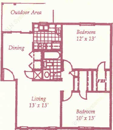 856 sq. ft. G floor plan