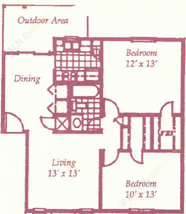856 sq. ft. G floor plan