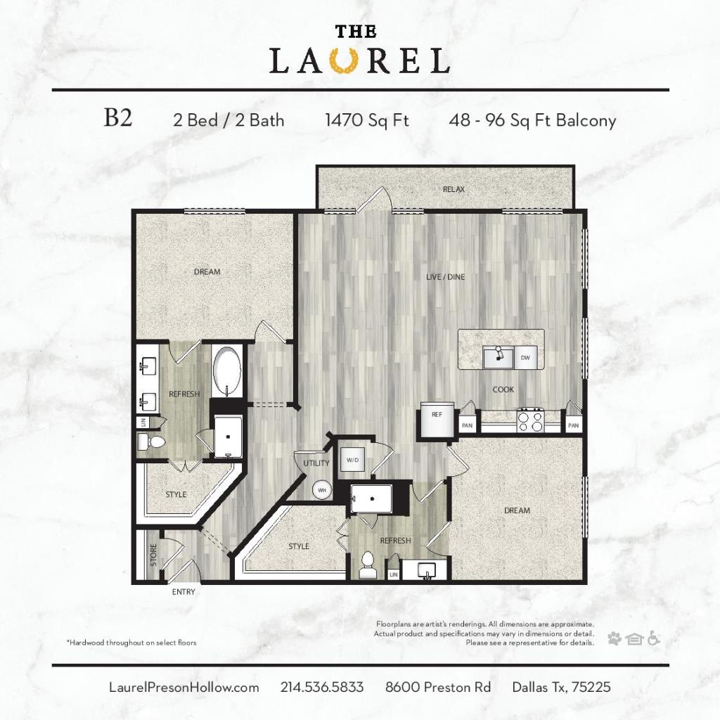 1,470 sq. ft. B2 floor plan