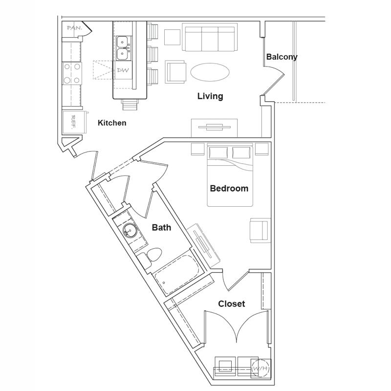 855 sq. ft. Lajitas floor plan