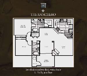 1,154 sq. ft. Ranchero floor plan