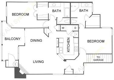 1,478 sq. ft. 2D floor plan