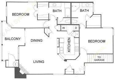 1,478 sq. ft. 2D floor plan