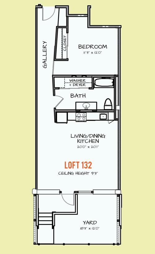 779 sq. ft. 407 floor plan