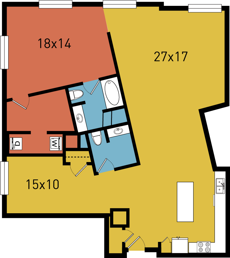 1,480 sq. ft. B6 floor plan