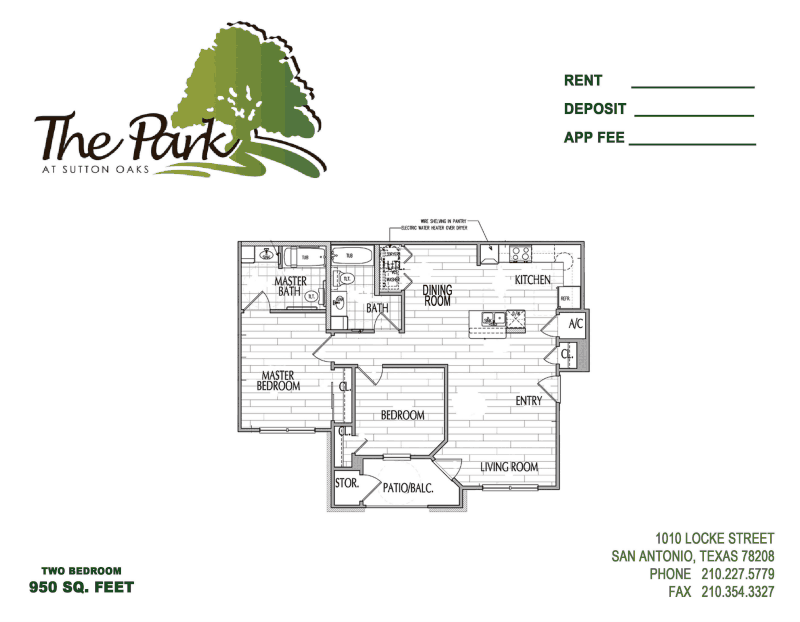 985 sq. ft. MKT floor plan