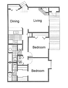 963 sq. ft. floor plan