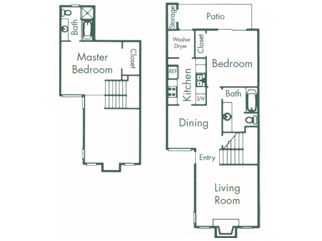 1,085 sq. ft. B9 floor plan