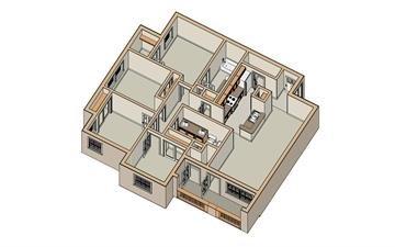 1,300 sq. ft. 60/WHITE ROSE floor plan